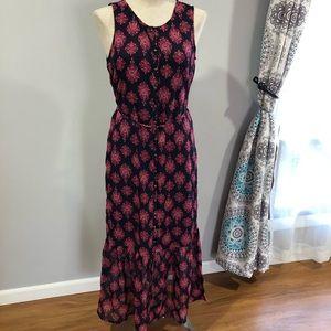 NWOT Lucky Brand sleeveless button boho maxi dress